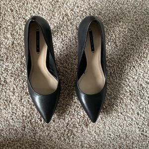 Zara Black Heels with Silver Detail Size 39